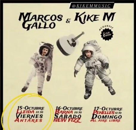 CONCERT · MARCOS GALLO & KIKE M