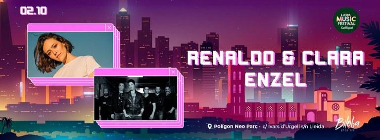 CONCIERTOS · RENALDO & CLARA + ENZEL